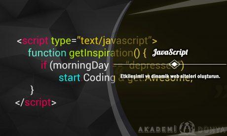 JavaScript Ücretsiz Sertifikalı Eğitim